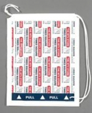 Duffle plastic carrier bags