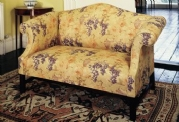 Camelback Two-Seater Sofa in Fabric