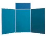 Velcro Compatible Folding Panel Display and Exhibition Systems