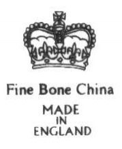 Fine Bone China / Made in England Back Stamps