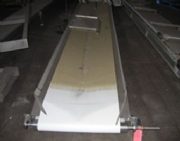 Stainless steel conveyor With PVC belt