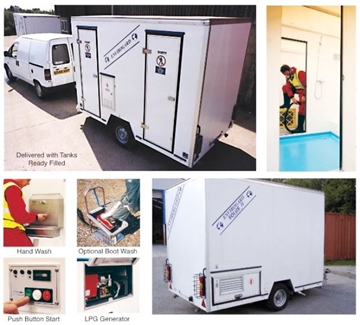 Hire Solus I Self-contained  Decontamination Shower Trailer Unit