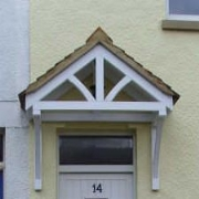 Cottage door canopy & Townhouse Products Timber Door Canopies | timber canopy designs ...
