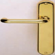 Iris Round Bar Lever On Backplate
