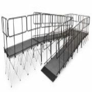 Equipment Ramps with Guardrails