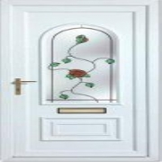 Rehau Front Doors with Stained Glass Windows