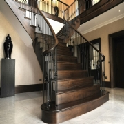 American black walnut staircase