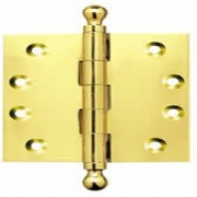 Brass Finial Projection Hinges