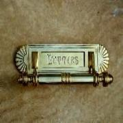 Aged Brass Letter Box Cover