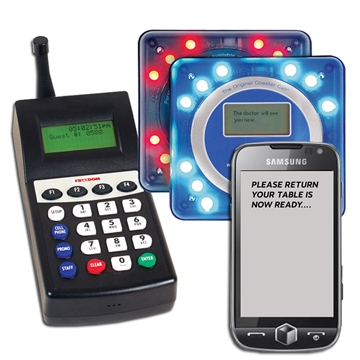 SMS Text Pager System, customer retail paging, staff paging with text, sms paging,guest text pagers,