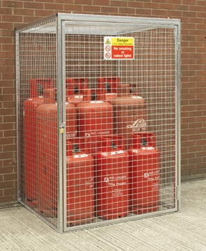 Gas Cylinder Cage for 9 x 47kg Cylinders