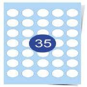 35 Labels Per Page Clear Inkjet Labels