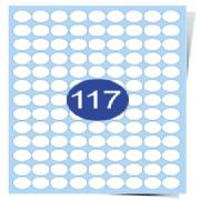 117 Labels Per Page Clear Inkjet Labels