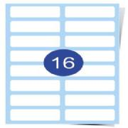 16 Up Label Sheets (Round Corners) Clear Inkjet Labels