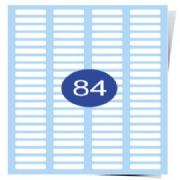 84 Up Labels Sheets (Round Corners) Clear Laser Labels