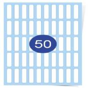 10 across x 5 down Clear Laser Labels