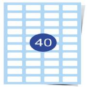 40 Up Labels Sheets (Round Corners) Gloss Inkjet Labels