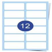 2 across x 6 down Clear Laser Labels