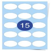 15 Labels Per Page Oval Labels