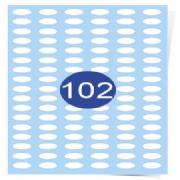 102 Labels Per Page Oval Labels