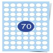70 Labels Per Page Gloss Laser Labels