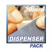 30mm diameter Clear Sealing Label - 2000 per roll - Removable Adhesive Clear Round Sealing Labels