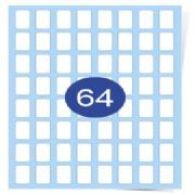 8 across x 8 down Gloss Laser Labels
