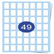 7 across x 7 down Gloss Laser Labels