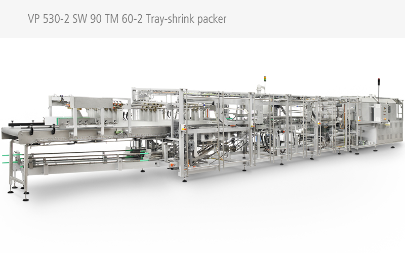 Twin Lane Tray Shrink Packing