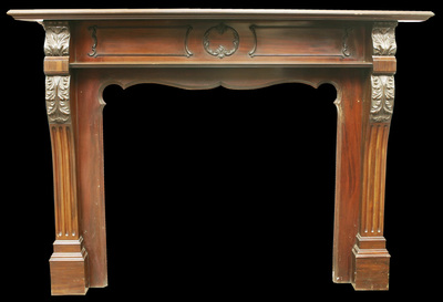Edwardian Chippendale Style Fireplace