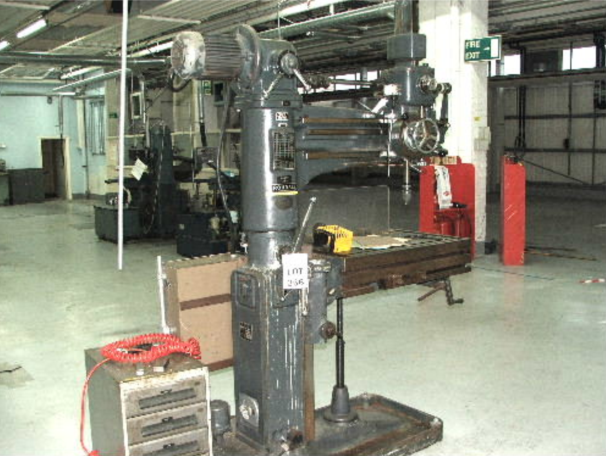 ARCHDALE ELEVATING TABLE RADIAL ARM DRILL