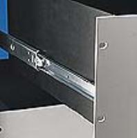 Stainless steel slide with lock-out and front disconnect