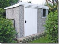 Post and Panel Concrete Shed