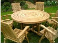 Turnworth 150cm Round Ring Table Set with Recliner Chairs