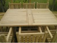 Rectangular Extending Table Set with Southwold Arm Chairs