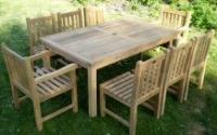 Southwold Rectangular Teak 180cm Table Set with Southwold Chairs