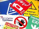 Health and Safety Signs Engraving