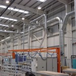 Ductwork in manufacturing facility