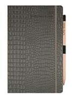 Mock Croc Journal and Jotter in Grey