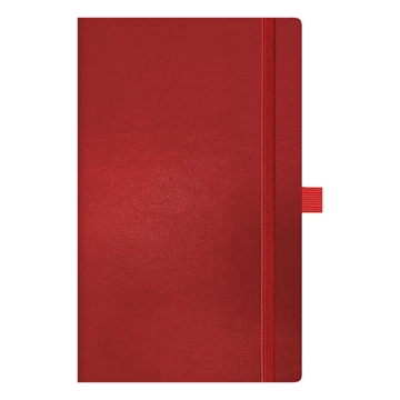 Red Leather Journal with Red Closure Band