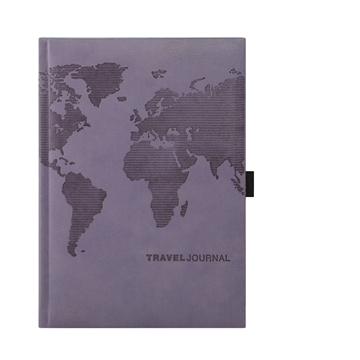 Leather Travel Journal - Lilac