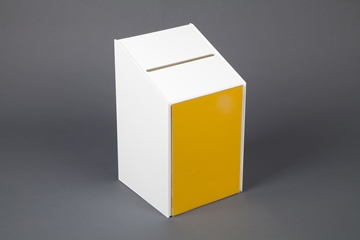 Lockable suggestion box in White