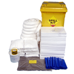350 Litre Oil and Fuel Only Performance Spill Kit in Wheeled Bin