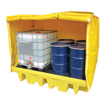 Twin IBC Containment Bund with Framed Cover
