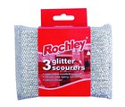 Rochley Glitter Scourers pack of 3