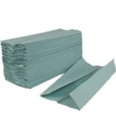 C-fold Green 1ply Paper Hand Towel