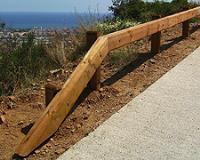 Natural Timber Clad Safety Barrier Systems