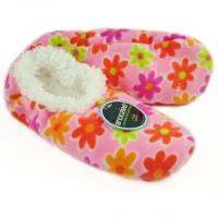 Snoozies! Slippers / Socks - Modern Daisy Pink