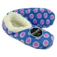 Snoozies! Slippers / Socks - Modern Dots - Blue