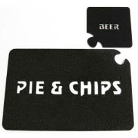 Puzzle table mat & Coaster Set - Pie Chips & Beer